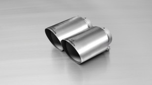 Cola de escape doble Remus 115mm INOX